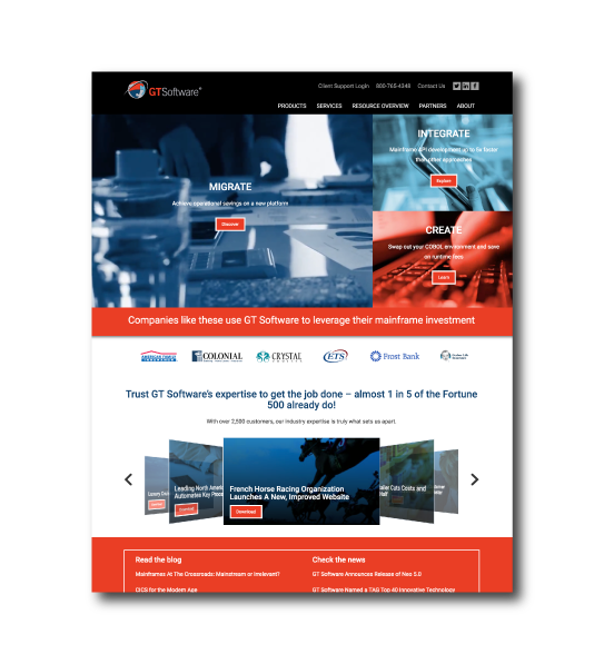 GT Software reinvents their web presence